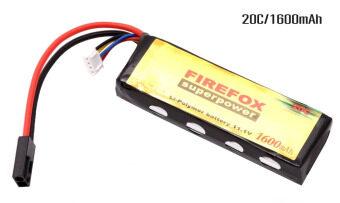 FireFox แบตเตอรี่บีบีกัน ลิเทียมพอลิเมอร์ Li-Po Battery 11.1V 20C/1600mAh