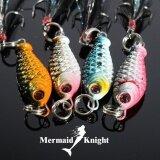ซื้อ Fishing Tackle 4Pcs Lot Lead Fishing Hard Bait 6 5G 4 Colors Fishing Lure Spoon Fishing Lures Intl Mermaidknight
