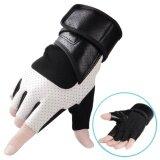 ขาย Fitness Gloves Male Training Wrist Pad Breathable Wear Resistant Anti Skid Half Finger Riding Protective Gloves Intl เป็นต้นฉบับ