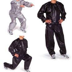 ซื้อ Fitness Loss Weight Sweat Suit Sauna Suit Exercise Gym Size 4Xl Black Unbranded Generic