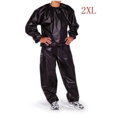 ซื้อ Fitness Loss Weight Sweat Suit Sauna Suit Exercise Gym Size 4Xl Black Intl ใหม่