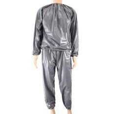 ราคา กันน้ำพีวีซีหนักชุดสูทซาวน่าเหงื่อเสื้อผ้ายิมการฝึกอบรม Slimming ออกกำลังกายลดน้ำหนักซาวน่าเสื้อผ้าเอ็กแอลขนาด นานาชาติ เป็นต้นฉบับ