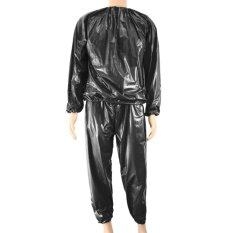ขาย Fitness Waterproof Pvc Heavy Duty Sauna Suit Sweat Clothes Gym Training Slimming Workout Weight Loss Sauna Clothes Xxxl Size Intl เป็นต้นฉบับ