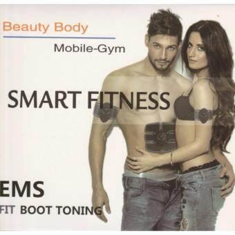 แผ่นกระตุ้นบริหารกล้ามเนื้อ เครื่องกระตุ้นบริหารกล้ามเนื้อ FitnessTrainingGear Muscle EMS Stimulator Abdominal Muscle Exerciser Body Slimming Toning Fitness Training Gear Abs Fit Training Belt Smart Wireles