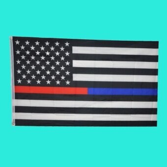 Flags 3 By 5 Foot Flag Black White And Blue American - intl