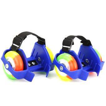 Flashing Roller สเก็ตสวมรองเท้า ล้อมีไฟ สีน้ำเงิน