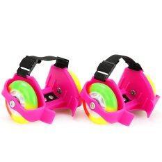 ราคา Flashing Roller สเก็ตสวมรองเท้า ล้อมีไฟ สีชมพู ใหม่