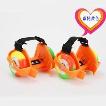 Flashing Roller สเก็ตสวมรองเท้า ล้อมีไฟ สีส้ม