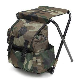 เก้าอี้ตกปลาพับได้ เก้าอี้ตั้งแคมป์ สตูลท่องเที่ยว Camping Hiking กระเป๋าเป้สะพายหลัง Multi - Function - INTL
