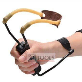 Folding Wrist Slingshot หนังสติ๊กล่าสัตว์ มีแป้นค้ำโครงเหล็กพับได้