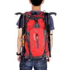มีม้า 005 กระเป๋าเป้เดินป่าค้างแรมกลางแจ้งกีฬาผ้าไนลอนกระเป๋ากันน้ำ 40ลิตร สีแดง Free Knight ถูก ใน จีน
