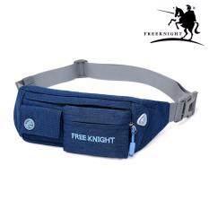 ซื้อ Free Knight Fk 754 กระเป๋าวิ่งคาดเอวรุ่นกันน้ำ เข็มขัดใส่วิ่ง Fitness Jogging Bag สีน้ำเงิน Free Knight ถูก