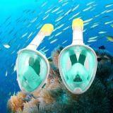 ราคา หน้ากากดำน้ำ หน้ากากดำน้ำแบบเต็มหน้า หน้ากากดำน้ำแบบไม่ต้องคาบท่อ Full Face Snorkel Mask Green สีเขียว ใหม่ ถูก
