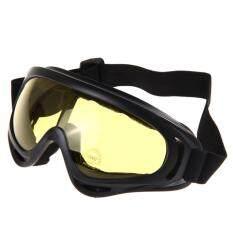 ซื้อ G2G แว่นตากันแดด กันฝุ่น สำหรับขี่มอเตอร์ไซค์ จักรยาน หรือ เล่นกีฬากลางแจ้ง กรอบดำ มีสายรัด เลนส์สีเหลือง จำนวน 1 ชิ้น G2G ออนไลน์