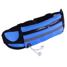 ขาย G2G กระเป๋าคาดเอวสำหรับเก็บของใช้เวลาออกกำลังกาย สีฟ้า ถูก