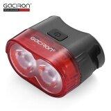 โปรโมชั่น Gaciron W09 60Lm Usb Rechargeable Waterproof 2 Led Bike Tail Light Mtb Safety Warning Smart Rear Lamp Intl ถูก