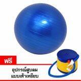 ทบทวน ที่สุด Galaxy ลูกบอลโยคะ Yoga Ball ขนาด 55 ซม สีน้ำเงิน แถมฟรี อุปกรณ์สูบลมแบบเท้าเหยียบ