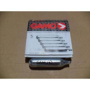แก๊สหลอด Gamo Co2 สำหรับเติมปืนอัดลม BB Gun ขนาด12กรัม แพ็ค5หลอด