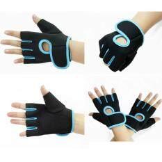 Gion ถุงมือฟิตเนส ถุงมือออกกำลังกาย Fitness Glove Weight Lifting Gloves Blue M เป็นต้นฉบับ
