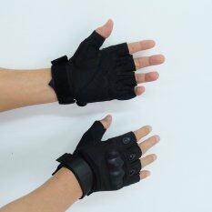 ขาย ซื้อ Gion ถุงมือ ฟิตเนส ยกน้ำหนัก เทรนนิ่ง ปั่นจักรยาน ปืนเขา สีดำ