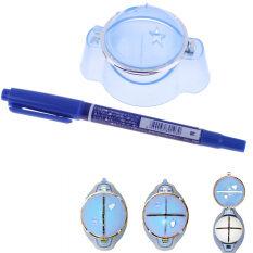 ไลน์นิ่งกอล์ฟบอล Marker แผ่นรองที่วาดภาพเครื่องมือจัดตำแหน่งพลาสติก + ปากกาสีฟ้า By Welcomehome.