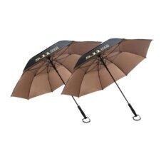 ขาย Golf Umbrella ร่มกอล์ฟ 511 ร่ม 2 ชั้น เคลือบกัน Uv คุณภาพสูง จำนวน 2 คัน Black Gold ถูก