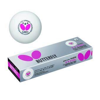 Grand sport ลูกเทเบิลเทนนิส Butterfly 3 ดาว 40+ (แพ็ค 12 ลูก) (สีขาว)