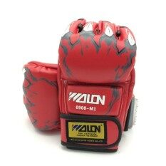 Health - Boxing Gloves นวม Mma นวมชกมวย นวมต่อยมวย นวมซ้อมมวยแบบตัดปลายนิ้ว By Health Sports.