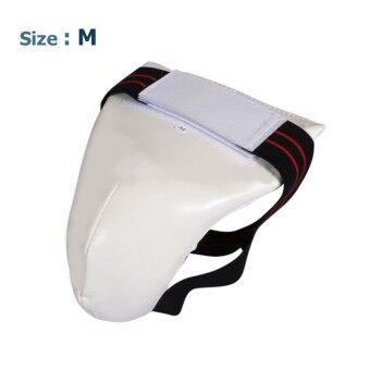HEALTH - กระจับเทควันโด กระจับชกมวย PU กีฬาประเภทต่อสู้ ไซต์ M สีขาว