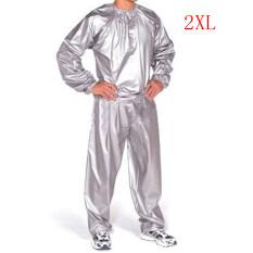 ทบทวน Heavy Duty Sweat Suit Sauna Exercise Fitness Weight Loss Anti Rip Unisex Grey 2Xl Intl