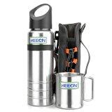 Heecn Camping Mug And Bottle Sets 700Ml Sports Bottle And Single Wall Mug Sets Hebl S001 Intl เป็นต้นฉบับ