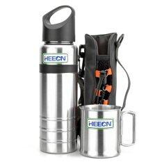 ขาย Heecn Camping Mug And Bottle Sets 700Ml Sports Bottle And Single Wall Mug Sets Hebl S001 Intl ใน จีน