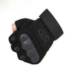 ขาย ขายร้อน ถุงมือยุทธวิธีทางทหารครึ่งนิ้วกีฬากลางแจ้งถุงมือจักรยานกีฬาถุงมือทหารถุงมือยุทธวิธี สีดำ จีน
