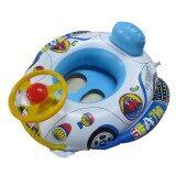 ส่วนลด Inflatable Pool Swim Float Boat Infant Chair Swimming Trainer With Wheel Horn Intl จีน