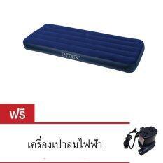 ขาย Intex ที่นอนเป่าลม Jr Twin Size ขนาด 76X191X22 Cm รุ่น 68950 Blue แถมฟรี ที่เป่าลมไฟฟ้า Myhome Family เป็นต้นฉบับ