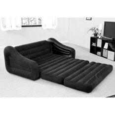 ขาย Intex Pull Out Sofa Bed 68566 โซฟาปรับนอน แถมสูบไฟฟ้าHt 196 สีดำ