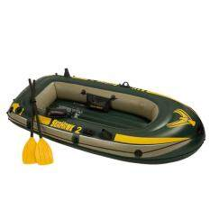 intex seahawk 2 boat with oars and dq1 air pump