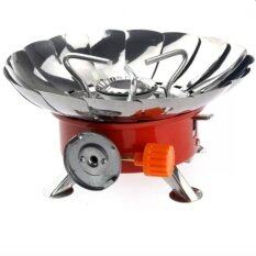 ราคา Iremax Portable Folding Lotus Style Windproof Camping Stove Butane Gas Stove ใหม่