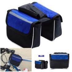 ซื้อ Jetana Bike กระเป๋าจักรยาน กระเป๋าพาดเฟรม กระเป๋าติดจักรยาน กระเป๋าคู่ กระเป๋าใส่โทรศัพท์ Outdoor Bike Bag Double Side สีน้ำเงิน ถูก