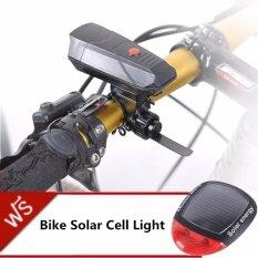 JJ แตรไฟฟ้าจักรยาน CYCLE HORNS แถมฟรี ไฟท้ายจักรยานพลังงานแสงอาทิตย์ Bike Solar Cell Light รุ่น NO.909 (Black)