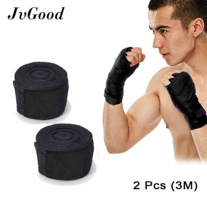 JvGood Elastic Professional 118inch/3Meter Hand Wraps for Boxing Kickboxing Muay Thai MMA-2 Pieces Pack