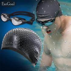 ทบทวน Jvgood ซิลิโคนหมวกว่ายน้ำและป้องกันรังสียูวีแว่นตาน้ำกันน้ำเหมาะสำหรับสุภาพบุรุษและสุภาพสตรี Jvgood