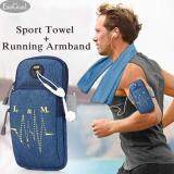 ซื้อ Jvgood Sports Armband Multifunctional Pockets Workout Running Armbag And Cooling Towel For Sports Fitness Gym Yoga Pilates Camping More Jvgood
