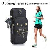 Jvgood Sports Armband Water Resistant With Multifunctional Pockets Workout Running Armbag Arm Band Outdoor Pouch For 3 5 6 2 Smartphone Cell Phone Intl เป็นต้นฉบับ