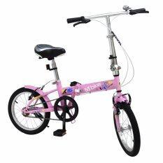 ขาย K Bike จักรยานพับได้ Folding Bike 16 นิ้ว 1 Speed รุ่น 16K101 Mbike ชมพู K Bike ผู้ค้าส่ง