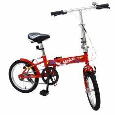 K-Bike จักรยานพับได้ Folding Bike 16 นิ้ว 1 Speed รุ่น 16k101 Mbike แดง.