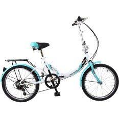 K-Bike จักรยานพับได้ Folding Bike 20 นิ้ว เกียร์ 6 Speed รุ่น 20tc601 (new Design) เขียว/ขาว By Vkp Shop.