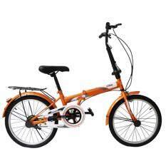 ส่วนลด K Bike จักรยานพับได้ Folding Bike 20 นิ้ว Single Speed 20K61 สีส้ม K Bike ใน ไทย