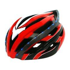 โปรโมชั่น K Bike หมวกจักรยาน มีไฟ Led รุ่น Lw 878 สีแดง K Bike