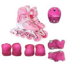 ราคา รองเท้าโรลเลอร์เบลด Kakala Size L 39 42 สีชมพู พร้อมชุดป้องกัน6ชิ้นและหมวก1ใบ เป็นต้นฉบับ Kakala